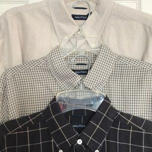 3 Nautica Buttondown Shirts EUC